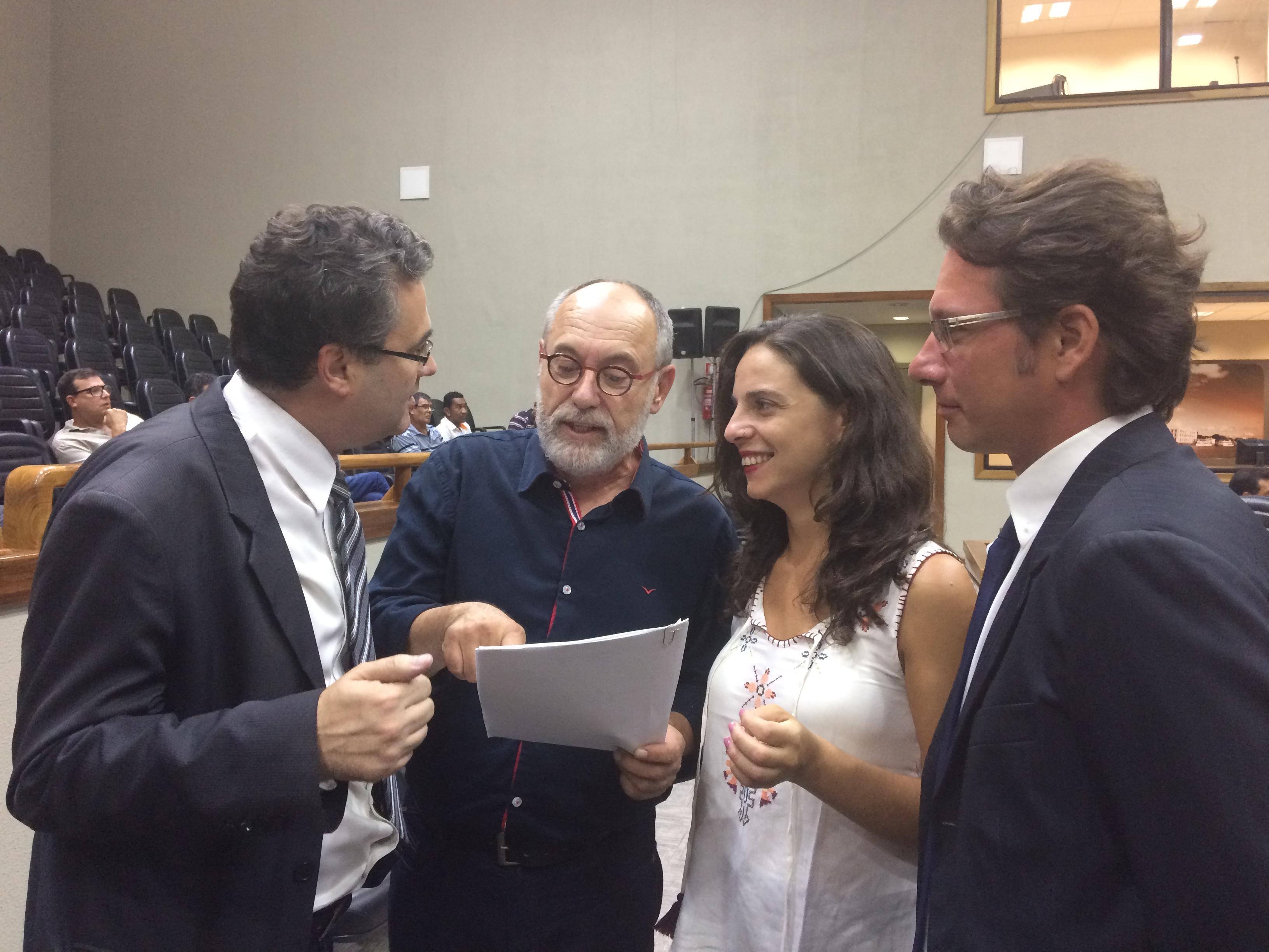 Bancada do PSOL na Câmara de Vereadores recebe o deputado Pedro Ruas para tratar dos desdobramentos da CPI do DEP
