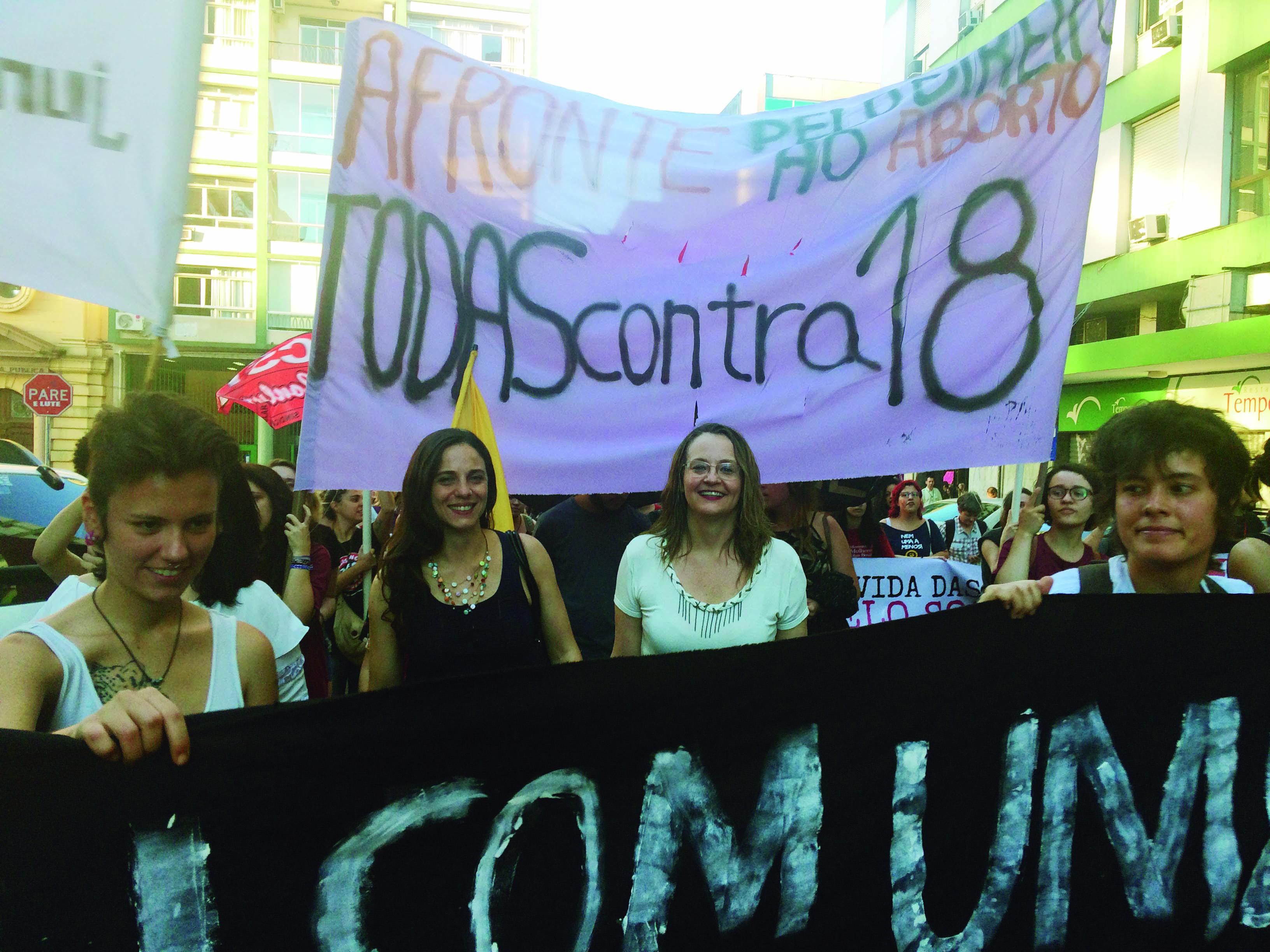 Pela vida e pela autonomia das nossas mulheres!