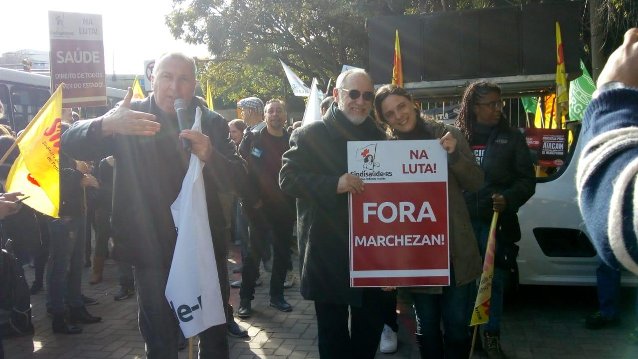 Unidade dos servidores para derrotar o projeto neoliberal de Marchezan e Sartori