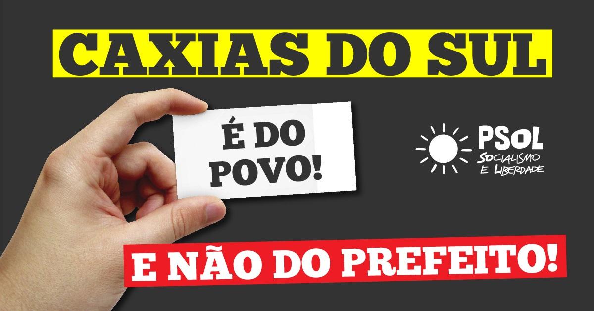 Candidatos do PSOL protocolam representação no MPE por direito a fazer campanha em Caxias do Sul
