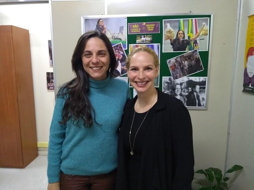 Vice-Cônsul do Canadá visita vereadora Fernanda Melchionna