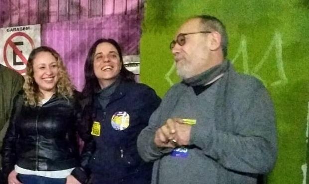 Fernanda Melchionna e Pedro Ruas inauguram comitê no Gasômetro