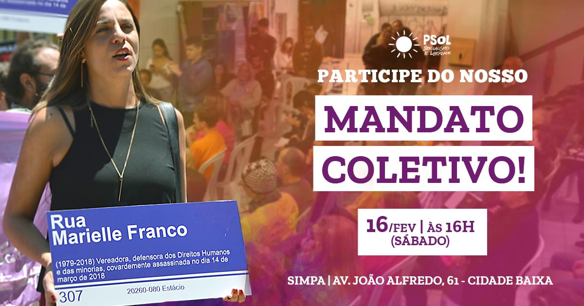Participe do encontro aberto para construção do nosso mandato coletivo!