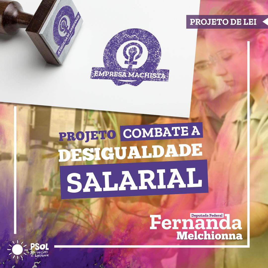 """Deputada Fernanda Melchionna propõe criação de selo nacional """"Empresa machista"""""""