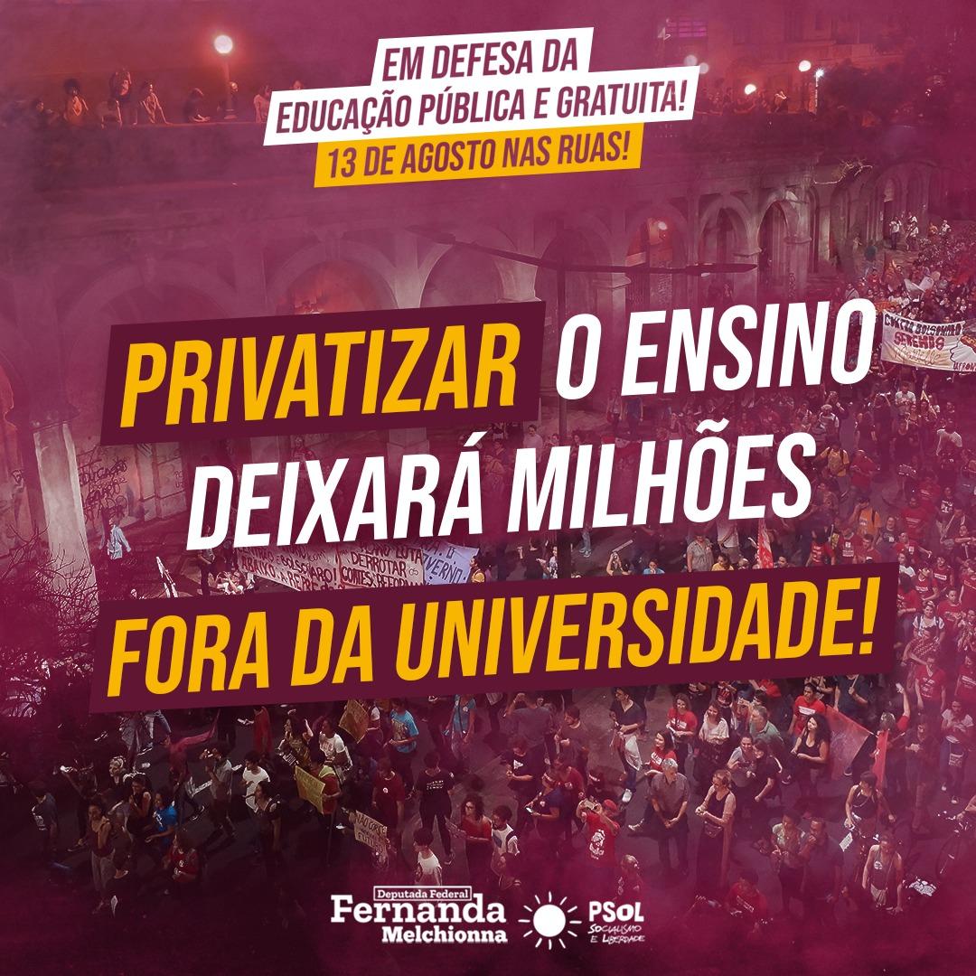 Unificar a mobilização em defesa da educação pública contra a retirada de direitos do governo Bolsonaro!