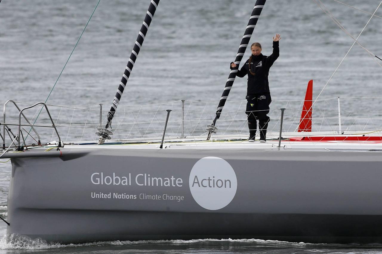Em defesa do Meio Ambiente, Greta não navega sozinha