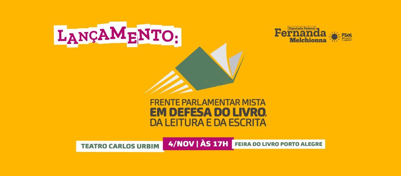 Frente em Defesa do Livro, da Leitura e da Escrita tem lançamento na 65ª Feira do Livro em Porto Alegre