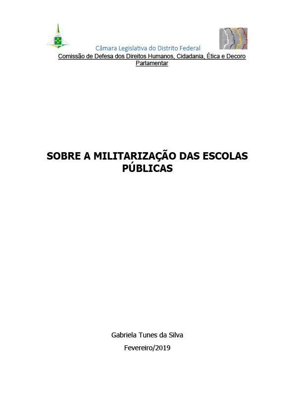 Relatório sobre a militarização das escolas públicas do DF