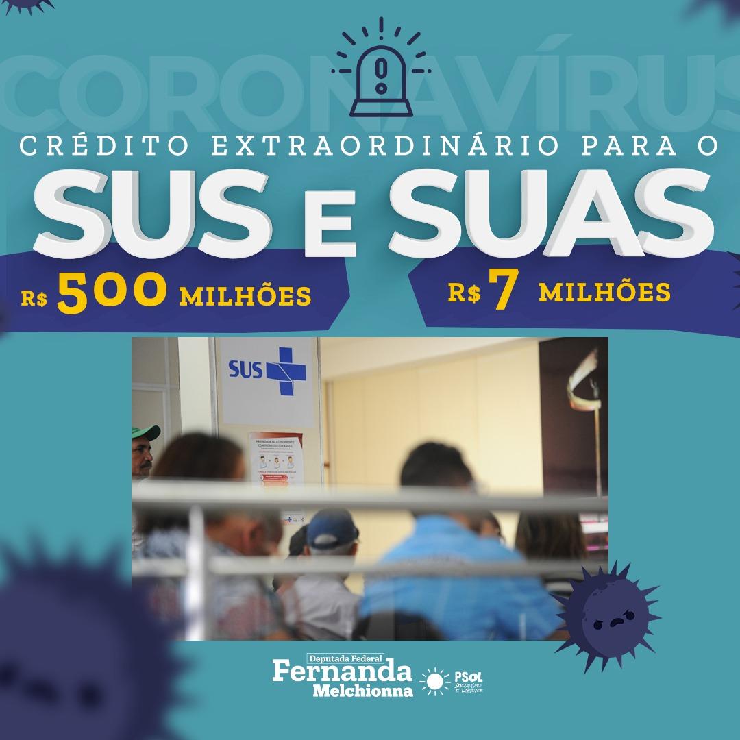 Fernanda Melchionna pede liberação de R$ 507 milhões para combate à pandemia de coronavírus no RS