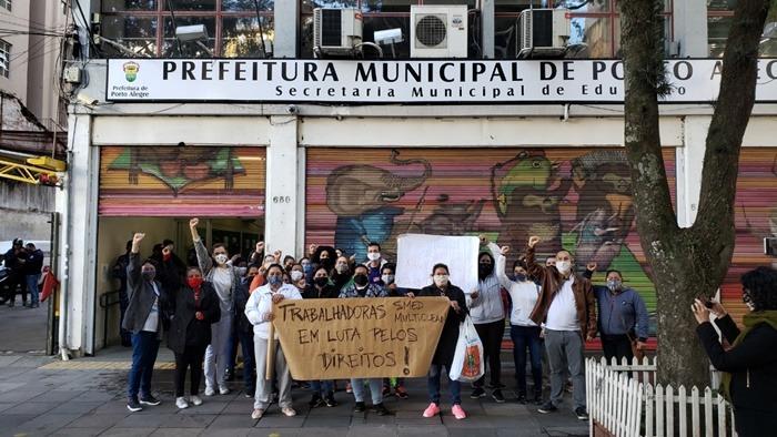 Fernanda Melchionna e parlamentares do PSOL acionam Ministério Público do Trabalho para reverter demissão de 700 terceirizados da SMED