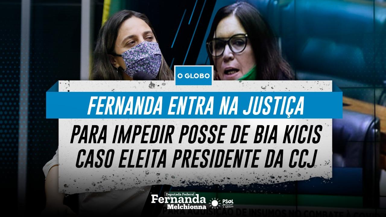 Fernanda entra na Justiça para impedir posse de Bia Kicis caso seja eleita na CCJ