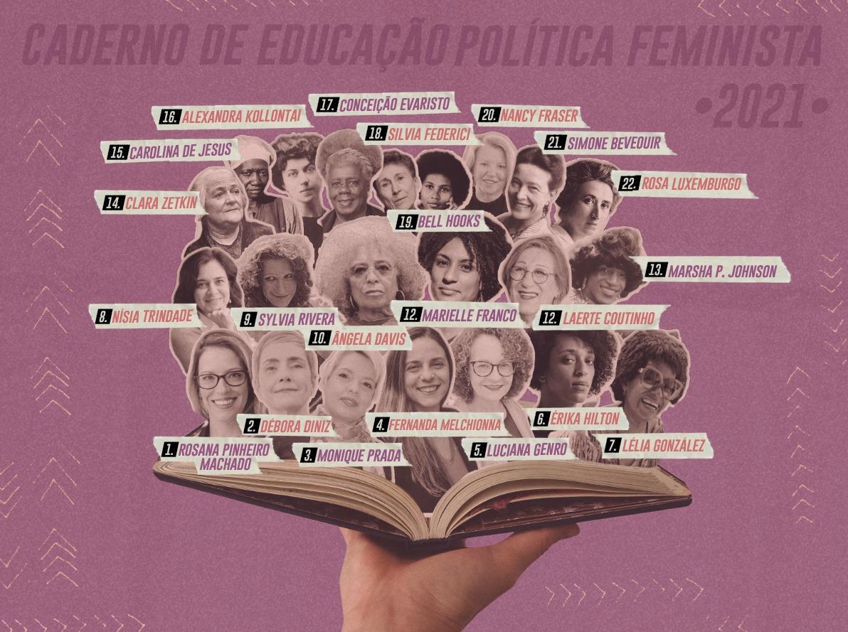 Escrito por mais de 50 mulheres, Caderno Feminista reúne textos para ajudar na auto-organização e luta coletiva contra governo Bolsonaro