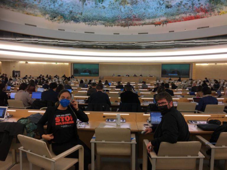 Em Genebra, deputada Fernanda Melchionna denuncia política genocida de Bolsonaro em reunião do Conselho de Direitos Humanos da ONU